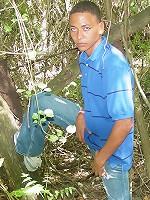 Latino under the tree vines let dick peek in his undies