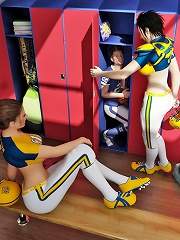 Football Shemale Players With Their Trainer Punish A Thief Who Has Made Way Into The Locker Room To Steal Their Champion^shemale Dominate Aggressor 3d