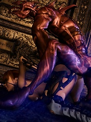 Sweet 3D miss riding dick after getting filled hard
