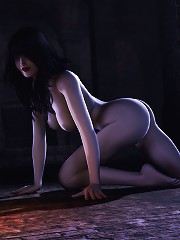 Horny Anime Sorceress fucked in her small butt