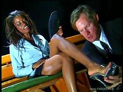 Wonderful Monique Has Interracial Sex With A Horny Man