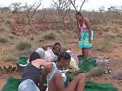 African Safari Groupsex Fuck Orgy