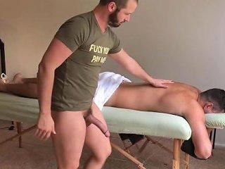 Asher Devin Bareback Massage Table Fuck W Cumshot