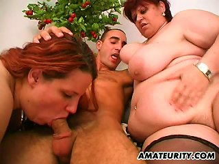 Two Big And Fat Chicks Fuck A Guy In Crazy Ffm Sex