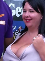 Big thick cutie with a super huge rack got banged by a lucky hung black guy