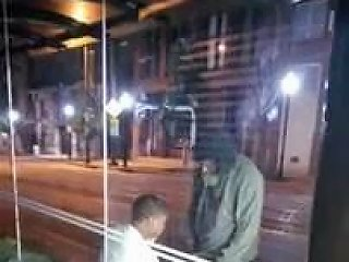 Homeless Man Getting Head In Down Town Baltimore City