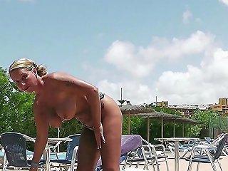 Stranger Seduce German Huge Tits Milf To Fuck On Holiday