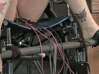 Spoiled Brunette Teen Gets Her Pussy Lips Beaten With Electrical Shock