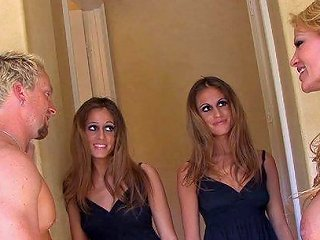 Slutty Twins Fucked Together In A Wild Foursome