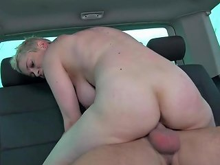 Takevan Busty Blonde Found Naked On The Street And