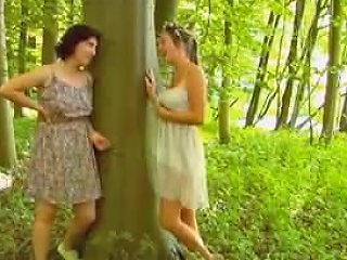 Two Lesb With Wild Forest Free Girls Masturbating Porn Video