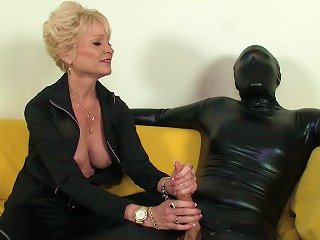 Mistress And Her Slave In Latex
