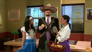 Two Sexy Brunettes Fuck A Lucky Mexican Stud In 30 Rock Parody