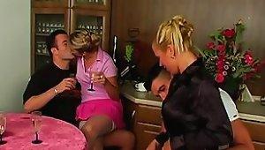 Hot Foursome With Two Wonderfully Kinky European Sluts