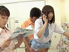 Horny Japanese Schoolgirls Can 039 T Keep Their Panties On For Long
