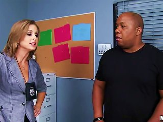 Sexy Blond Detective Is Sucking Her Black Suspect