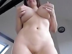 Very Horny Busty MILF Teasing And Toying Herself Nicely In Solo