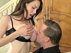 Bosomy Hottie Mckenzie Lee Rides Hard Dick Before Rough Doggy Style Sex
