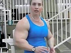 Buff Muscle Women Bodybuilder Huge Bicep Fbb