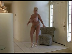Kayla: Dances And Bounces Her Fake Tits!