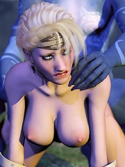 Poor Anime Slut dominates and filled by dick