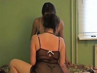 Lucky Guy Fucking Two Brunette Sisters In Their Bedroom