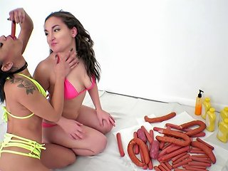 Kinky Babes Gabriella And Holly Play Nasty Games With Food Any Porn