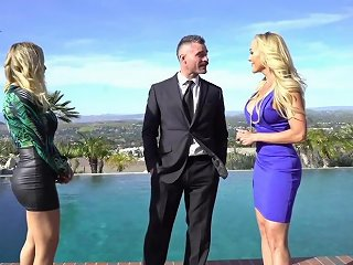 Man With Insane Dick In His Pants Rough Threesome With Two Premium Ladies