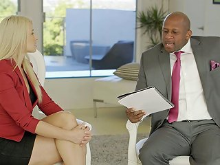 Blacked Business Blonde Anikka Albrite Ass Fucked By A