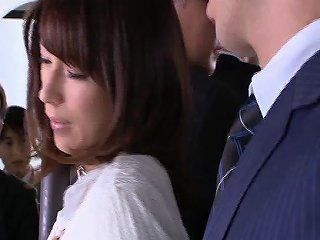 Busty Japanese Pornstar Gets Fondled On The Bus Before A Any Porn