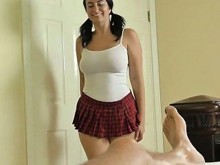 Tempting Brunette In Short Skirt Sidney Alexis Make Suse Of Vibrator During Hot Sex With Her Stepbrother