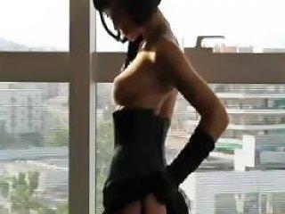 Sexy Short Hair Brunette Fucks In Stockings Drtuber
