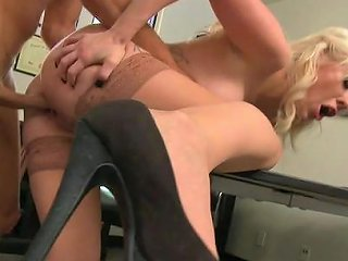 Mick Blue Penetrates Mouth Of Valerie Fox In The Office