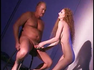 Redhead With A Glorious Body Using His Cock
