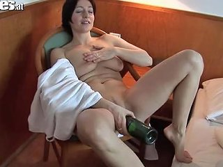 Fucking A Bottle Of Wine After Shower