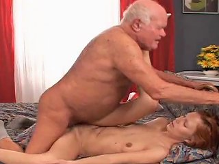 Dirty Teen Redhead Invites Grandpa Cock Into Her Pussy Any Porn