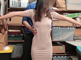 Aurora Winters Fucked Hard By Security Guard With Stiff