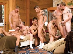 Horny muscle bears in awesome group fucking movies
