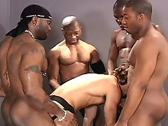 You want to see super-hung and hot black men fuck Jeff silly? Flex Deon Blake loves Jeff's tight hole and he shows three other super hung brothas