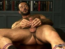 Hairy gay hunk Wilfried Knight solo clips