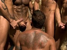 This is a massive episode with no less than four separate fucks, and a group of hung men hotter than their desert surroundings. The action begins with