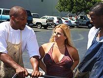 HOT Big tits Cougar MILF interracial threesome