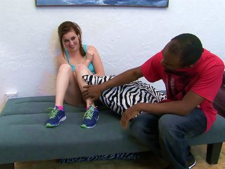Interracial Sex With A Monster Cock For The Naughty Teen Jessie Parker