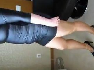 Wife In Leather Dress Pantyhose And Heels Free Porn 6c
