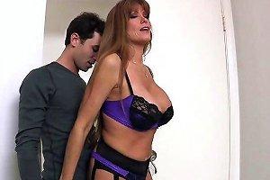 Sexy Milf Darla Krane Sucks And Fucks James Deen's Hard Cock