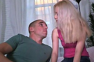 Skinny Pale Blonde Fucked By Mature Man In Cuckold Session Cock Ride