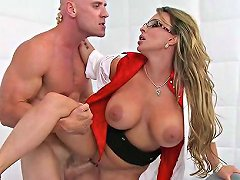 Milf With Amazing Tits Wearing Glasses Fucks Like Nuts