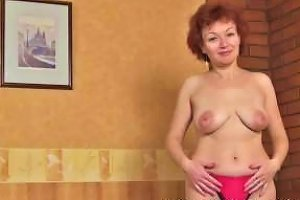 Mature Redhead Julia Fingers Her Wet Pussy
