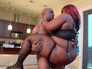 Fat Redhead Ebony Chick Constance Da Princess Fucked By A Bbc