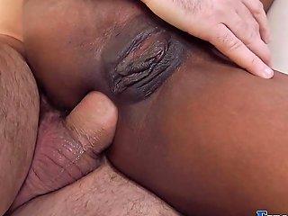Black Teen Gets Anal Sex